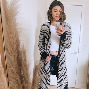 Knitted Stripe Cardigan